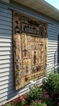 PRIMITIVE GARDEN QUILT IN THE GARDEN