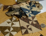 "little 3"" blocks for a new quilt for Featherweight Club..."