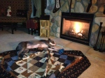 Jeter...always snoozing by the fire...