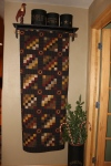 End of Hallway...most of my quilts are not Christmas quilts but look good at Christmas time...