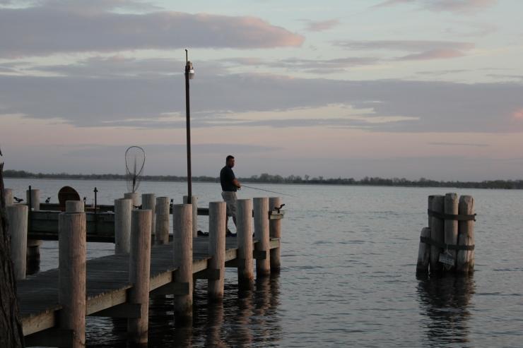Nick on the dock