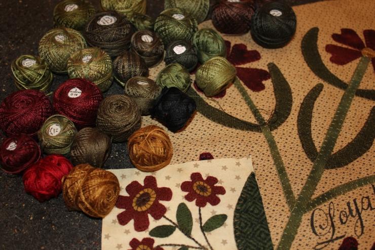 My BOW stitching threads...
