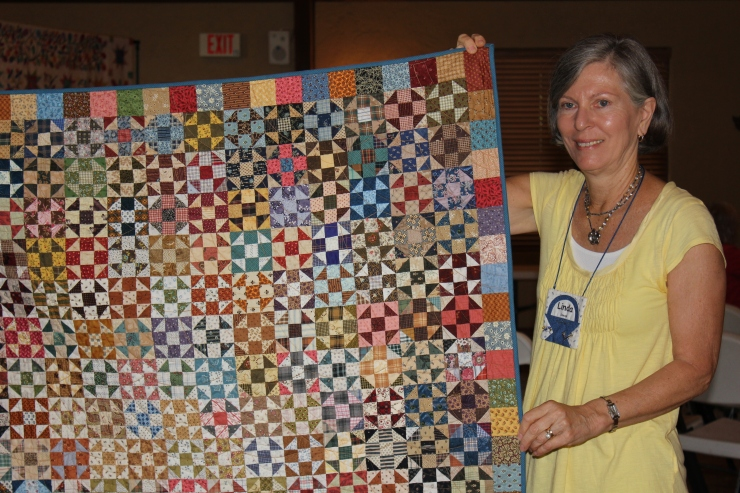 "Linda...from East Cobb Quilters...who also happens to be one of my local customer-Katie-Aunt Linda...look at those 3"" blocks!"