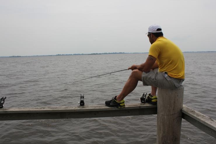 Nick on the dock...