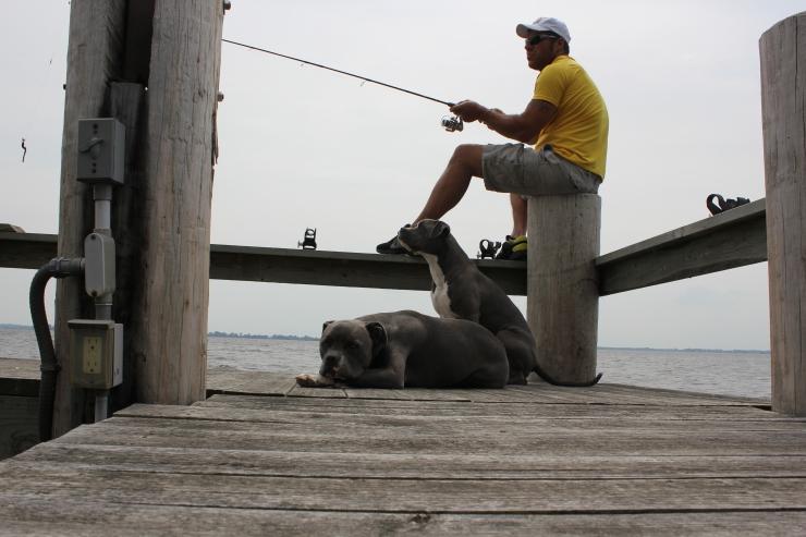 Nick and the Boys fishing...