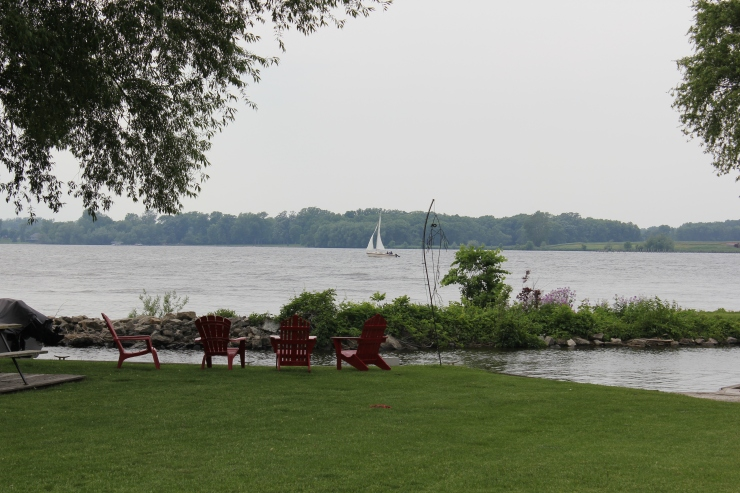 Sailboat on the lake...I would like to have a sailboat...
