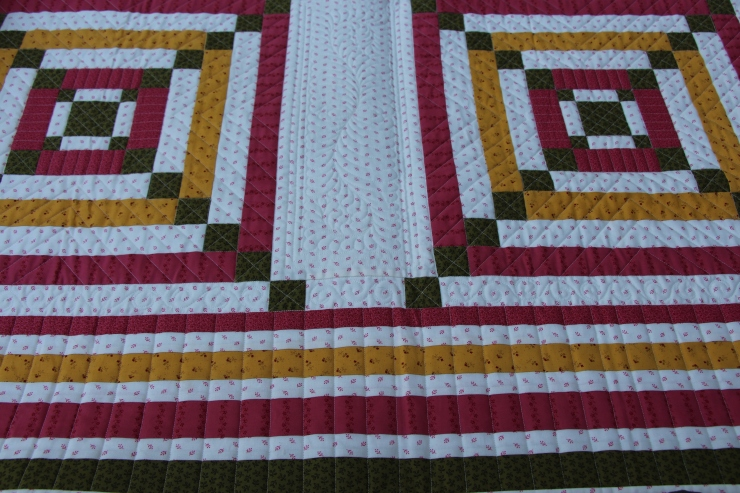 close up of square dance...quilted by Linda Hrcka