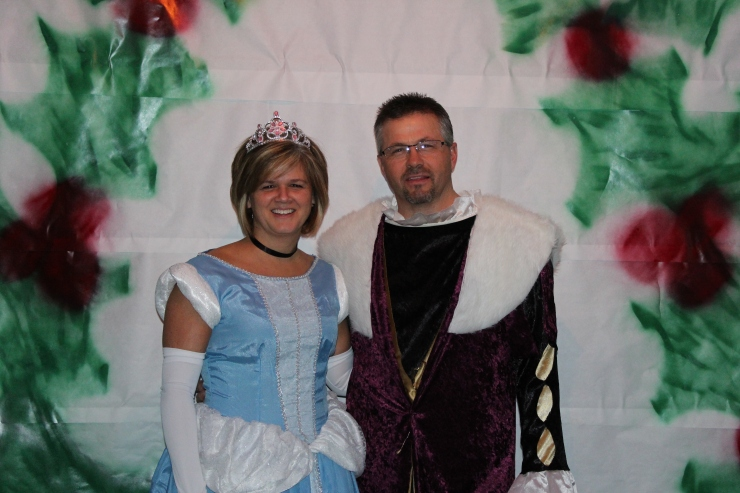 The King and Queen of the Holly Ball!!! My cousin Scott and wife Jody