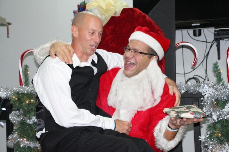 everyone had a turn on santa's lap...