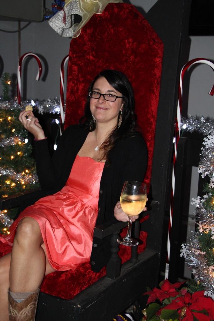 Jess…on Santa's chair...