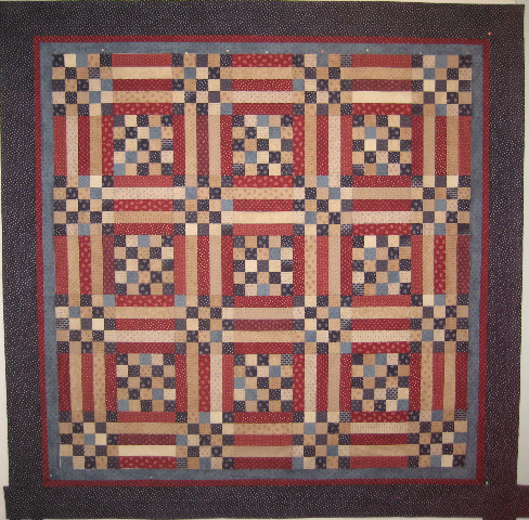 Picnic Quilt made by Janet Olsen, Pattern by Primitive Gatherings