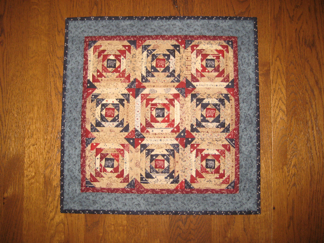 Pineapple Quilt...made by Janet Olsen..using Primitive Gatherings fabrics