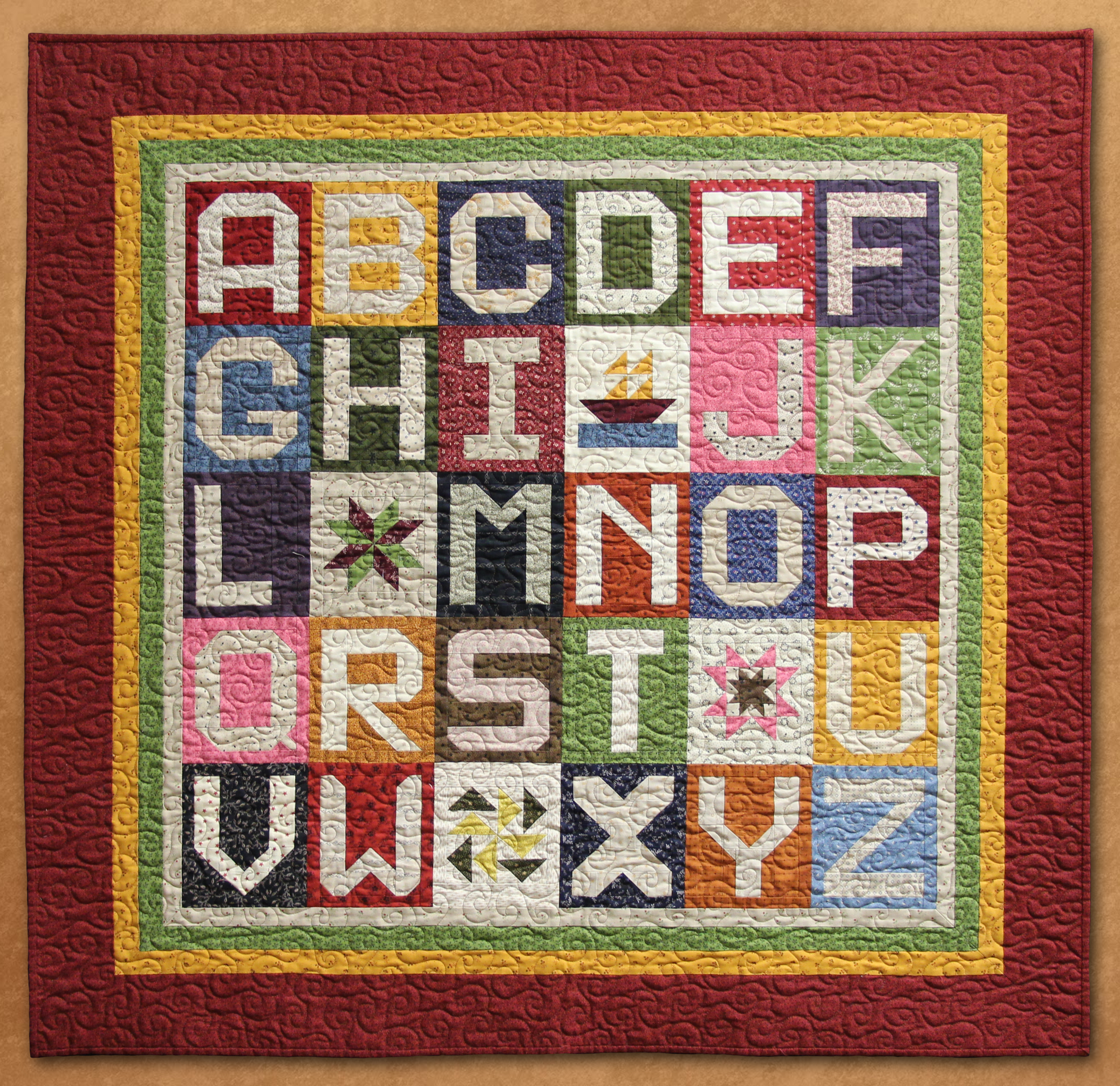 Quilt Patterns With Letters : Spell it with fabric?Moda Blog Hop.. Lisa Bongean s Weblog
