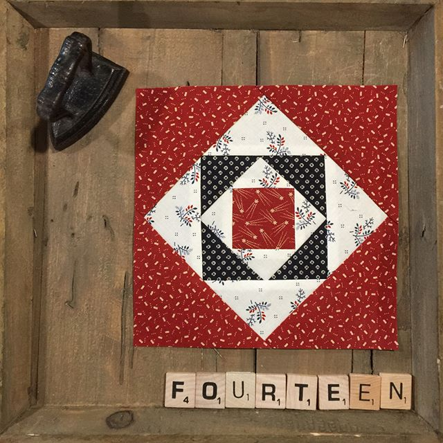 Its Blockhead Wednesday today!!! Today's it's Betsy's square in a square block!!!#modafabrics #modablockheads #primitivegatherings #lisabongean #betsychutchian #jan_patek_quilts #joquilts #ktquilts